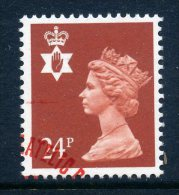 Great Britain Regionals - Northern Ireland - 1971-93 Machin - 24p Indian-red Used (SG NI57) - Nordirland