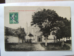 47## AGEN: L'hermitage, Entrée De L'église             CPA - Agen