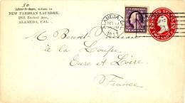 Etats-Unis 1911 Entier à 2 Cents, Affranchissement Complémentaire à 3 Cents (n° 169) De Alameda (cal.) Pour La France - Vereinigte Staaten
