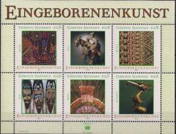 2003 UNO WIEN   Mi. Bl 17**MNH     Eingeborenenkunst - Wien - Internationales Zentrum
