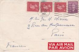 FRAGMENT  LSC  DEPART DE MONTREAL - CANADA -   26 JUIN 1950 - Covers & Documents
