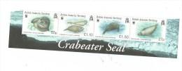 British Antarctis Territory - Lobodon Carcinophaga, Set Of 4 Stamps In Strip, MNH - Unused Stamps
