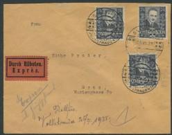 ÖSTERREICH / Eilbrief Von Graz Nach Graz Mit 3 ANK 590 Mit Volkstrauertagstempel Vom 25.07.1935, Ersttag - 1918-1945 1. Republik
