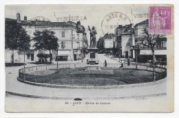 (RECTO/VERSO) AGEN EN 1935 - N° 36 - STATUE DE JASMIN - PLI EN BAS A DROITE - BEAU CACHET - CPA - Agen