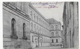 (RECTO/VERSO) AGEN EN 1914 - N° 77 - LYCEE DE JEUNES FILLES AVEC PERSONNAGES - BEAU CACHET - CPA - Agen