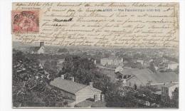 (RECTO/VERSO) AGEN EN 1902 - N° 54 - VUE PANORAMIQUE COTE EST - BEAU CACHET - CPA - Agen
