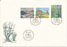 Aland FDC 16-9-1985 Country Scenes Complete Set Of 3 With Nice Cachet - Aland