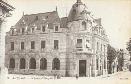 Langres (Haute-Marne) - La Caisse D´Epargne - Carte LL N°14, Non Circulée - Banks