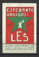 Esperanto Zagreb , LES 1937 , MNH - Esperanto