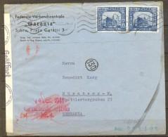 RUMANIA 1941 , SOBRE CIRCULADO ENTRE SIBIU Y NÜREMBERG , CENSURA DE SIBIU EN EL ANVERSO Y CENSURAS AL DORSO. - Cartas De La Segunda Guerra Mundial