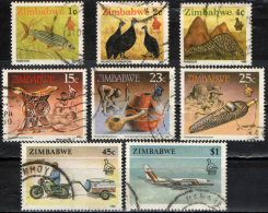 ZIMBABWE - 1990 - ANIMALS - HAND CRAFT AND TRANSPORTATION - USATI - Zimbabwe (1980-...)