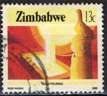 ZIMBABWE - 1985 - PRODUZIONE DELL'ORO - USATO - Zimbabwe (1980-...)