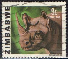 ZIMBABWE - 1980 - BLACK RHINOCEROS - USATO - Zimbabwe (1980-...)
