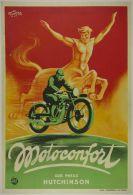 Postcard - Poster Reproduction - Motoconfort Sur Pneus Hutchinson (P) - Publicité