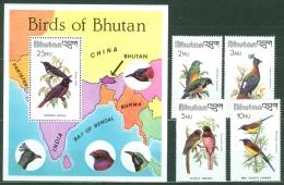Bhutan 1982 Birds MNH** - Lot. A389 - Bhutan