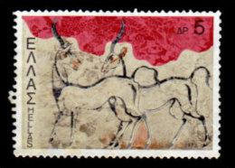 Greece, 1973 Scott  #1071, Wild Goats, Fresco At Santorini, Used, NH, VF - Greece