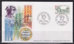 = Le Collège De France Enveloppe 1er Jour Paris 18.10.97 N°3114 Vue Du Bâtiment; Effigie De François 1er - 1990-1999
