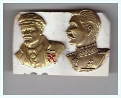 2 Medailles En Cuivre  Lenine , Staline  Russie Russe  Urss - Russie
