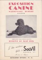 Genève Promenade Des Bastions 27 Mai 1945 Exposition Canine Nationale Suisse 76 Pages - Programmes