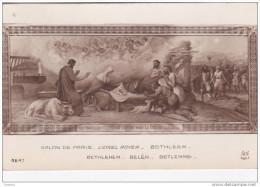 Cpa Bethleem Belen Betlemme Par Lionel Royer - Salon De Paris 4647 - Naissance Du Christ - Peintures & Tableaux
