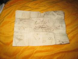 LETTRE ANCIENNE DE 1829. / BOURGOIN A AOUSTE PAR LE PONT DE BEAUVOISIN. / MARQUE 37 BOURGOIN + TAXE. - Postmark Collection (Covers)