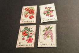 M125- -set MNh Anguilla 1970- Flowers -fleurs - Anguilla (1968-...)