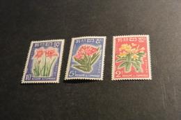 M148- Set MNH Cambodge-Cambodia 1961- SC. 91-93- Flowers-fleurs - Other