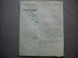 MOULIN DU METZ PAR CLERMONT OISE CAGNART- VIELLE FABRIQUE DE CRAIES EN TOUS GENRES COURRIER DU 8 MARS 1910 - France