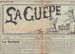"""Payerne - Brandons - Journal De La Fête 1928 """" La Guêpe """" ; 4 Pages De 52 / 38 Cm - Carnaval"""