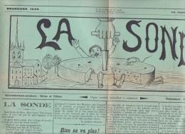 """Payerne - Brandons - Journal De La Fête 1935 """" La Sonde """" ; 4 Pages De 55 / 38 Cm - Carnaval"""