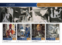 MALDIVES 2015 - Cubism, P. Picasso. Official Issue - Picasso