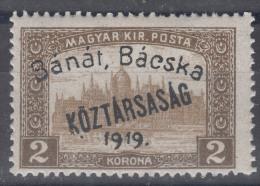 Hungary Banat Bacska 1919 Mi#32 Mint Never Hinged, Expert Mark - Banat-Bacska