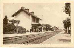 42/CPA A - Saint Just Saint Rambert Sur Loire - La Gare - Saint Just Saint Rambert