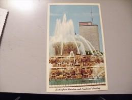 A343.  CPA. ILLINOIS. Buckingham Fountain And Prudential Building.  Beau Plan . Non Ecrite - Etats-Unis