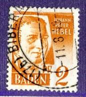 14901 - Baden  Michel # 14y Type I (o) ( Cat. €2.50 ) - Französische Zone