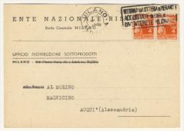 18/2/1948 - Cartolina Commerciale In Tariffa Cartolina Postale - 6. 1946-.. Repubblica