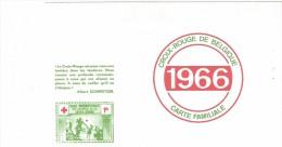 Croix-Rouge De Belgique / Carte Familiale / 1966 / 9cm X 14,5cm. - Documents Historiques