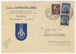 11/12/1948 - Cartolina Commerciale In Tariffa Cartolina Postale - 6. 1946-.. Repubblica
