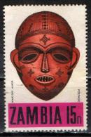 ZAMBIA - 1970 - MASCHERA INDIGENA - USATO - Zambia (1965-...)