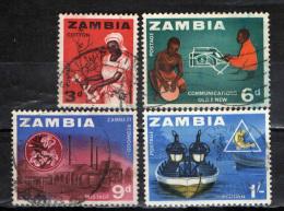 ZAMBIA - 1964 - IL LAVORO NELLO ZAMBIA - USATI - Zambia (1965-...)