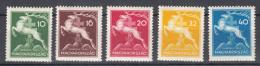 Hungary 1933 Mi#511-515 Mint Never Hinged - Unused Stamps