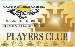 Win-River Casino Redding CA Players Club Slot Card - Phone# & Web Adr On 1 Line - Casino Cards