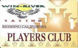 Win-River Casino Redding CA Players Club Slot Card - ACC Above Mag Stripe & Diff Text - Casino Cards