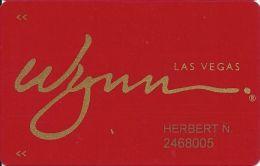 Wynn Casino Las Vegas Slot Card / Room Key - (R) After Wynn - 6 Lines Of Text On Reverse - Casino Cards