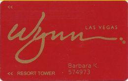 Wynn Casino Las Vegas Slot Card / Room Key - (R) After Wynn - 7 Lines Text / RESORT TOWER - Casino Cards
