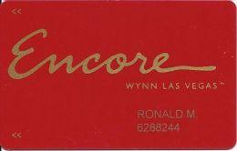 Encore / Wynn Casino Las Vegas Slot Card / Room Key - Casino Cards