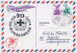 """ALLEMAGNE - CP Entier """"20 Jahre Bundeswehr / Deusche Luftwaffe"""" 1975 - [7] Federal Republic"""