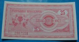MACEDONIA 25  DENARI 1992, FIRST ISSUE UNC. - Macédoine