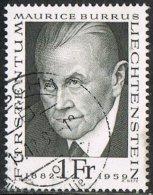 Liechtenstein SG497 1968 Pioneers Of Philately (1st Issue) 1f Good/fine Used - Liechtenstein