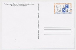 TAAF => 2 Cartes Postales (Entiers Postaux) -TAAF - 2,30 Et 2,30 + 0,10 - Entiers Postaux
